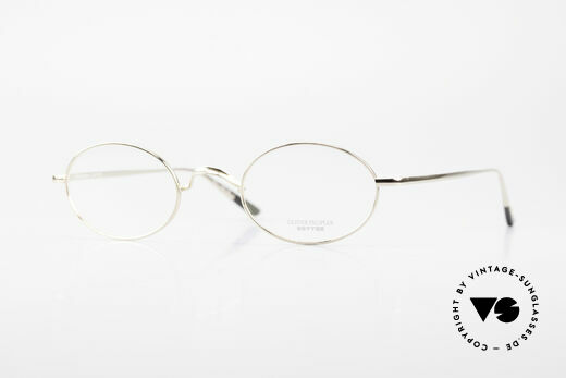 Oliver Peoples Gallagher Vintage Glasses Oval Round Details
