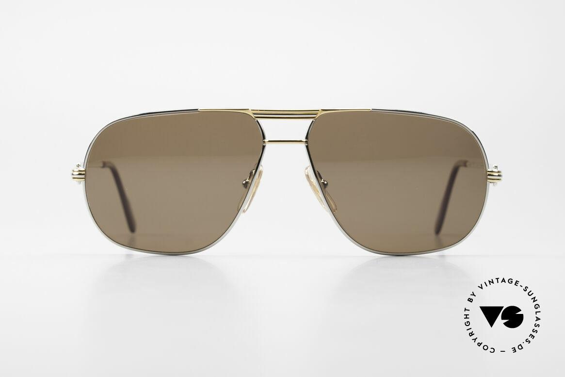 Cartier Tank - L Rare Platinum Finish Shades, precious CARTIER eyewear for gentlemen - just timeless, Made for Men