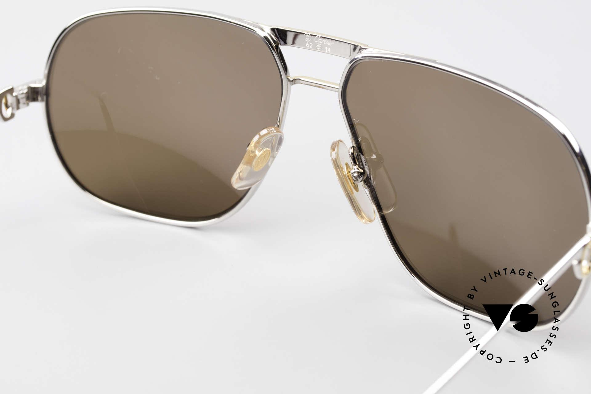 Cartier Tank - L Rare Platinum Finish Shades, NO RETRO eyewear; a rare 30 years old vintage ORIGINAL!, Made for Men