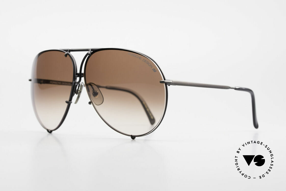 Porsche 5623 True 80's Aviator Sunglasses, the legend with interchangeable lenses - true vintage, Made for Men and Women