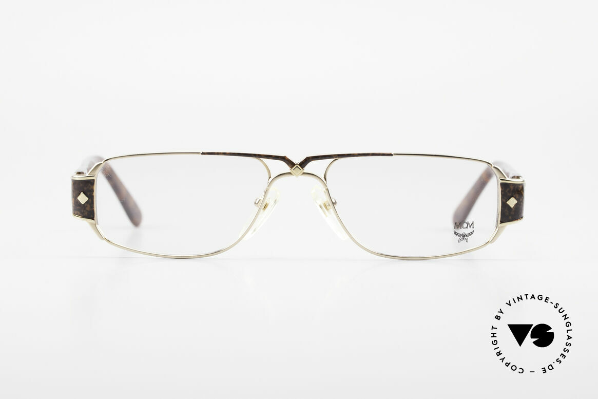 MCM München 7 80's Luxury Reading Glasses, massive frame design with pompous appliqué, Made for Men and Women