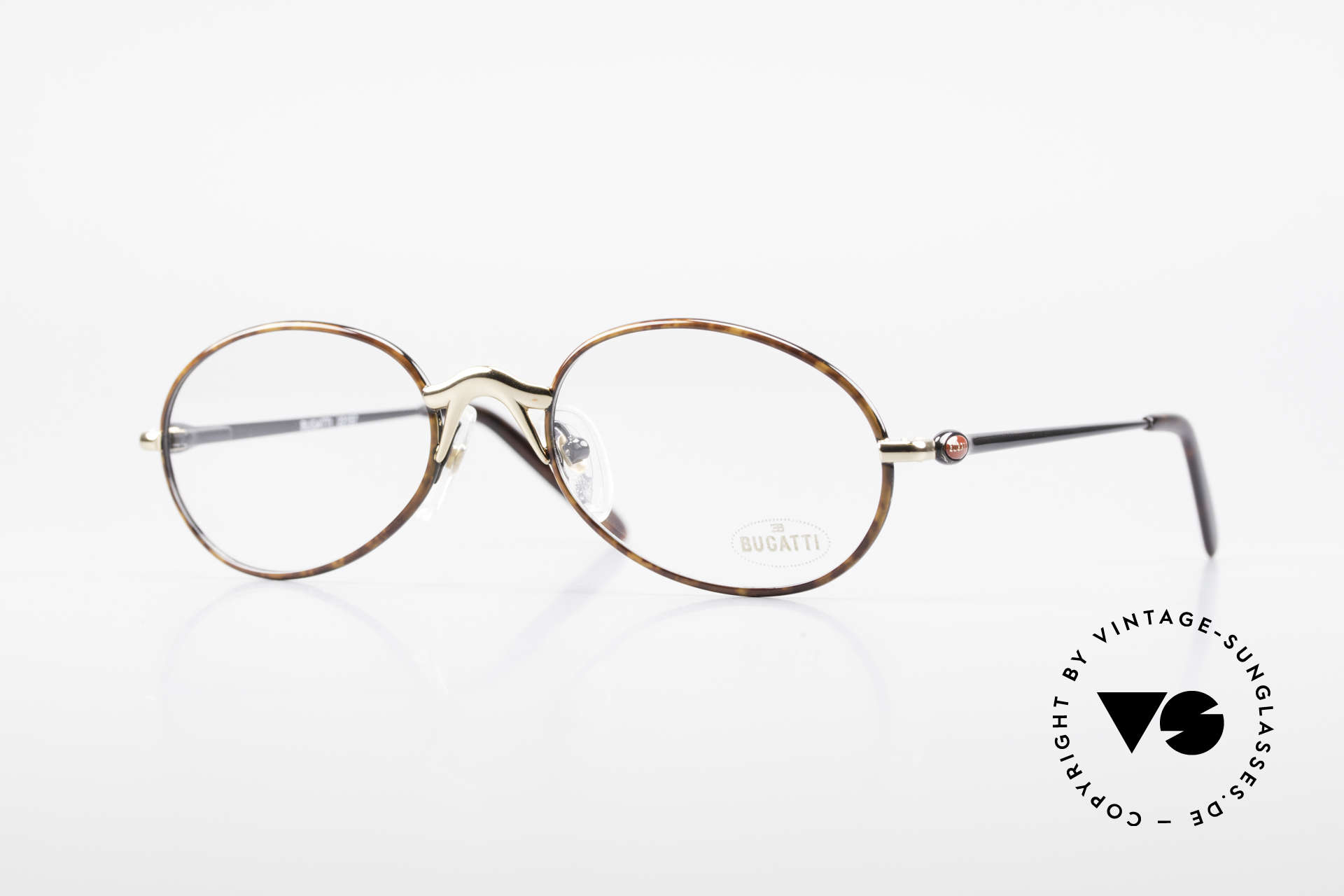 Bugatti 22157 Rare Oval 90's Vintage Specs, elegant vintage designer eyeglass-frame by BUGATTI, Made for Men and Women