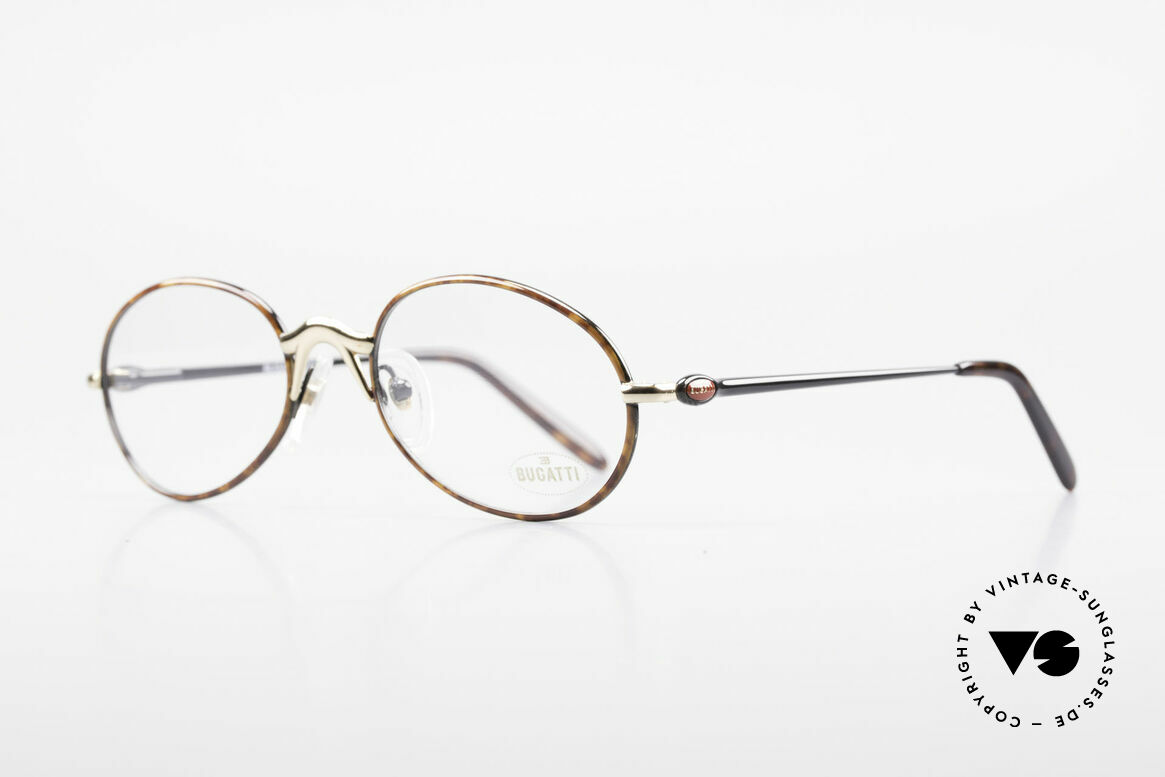 Bugatti 22157 Rare Oval 90's Vintage Specs, 1st class comfort due to spring temples (TOP quality), Made for Men and Women