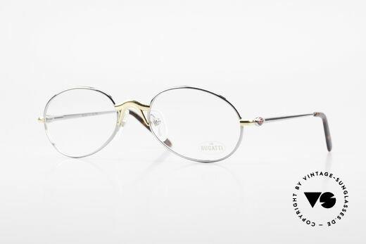Bugatti 22126 Rare Oval 90's Vintage Glasses Details