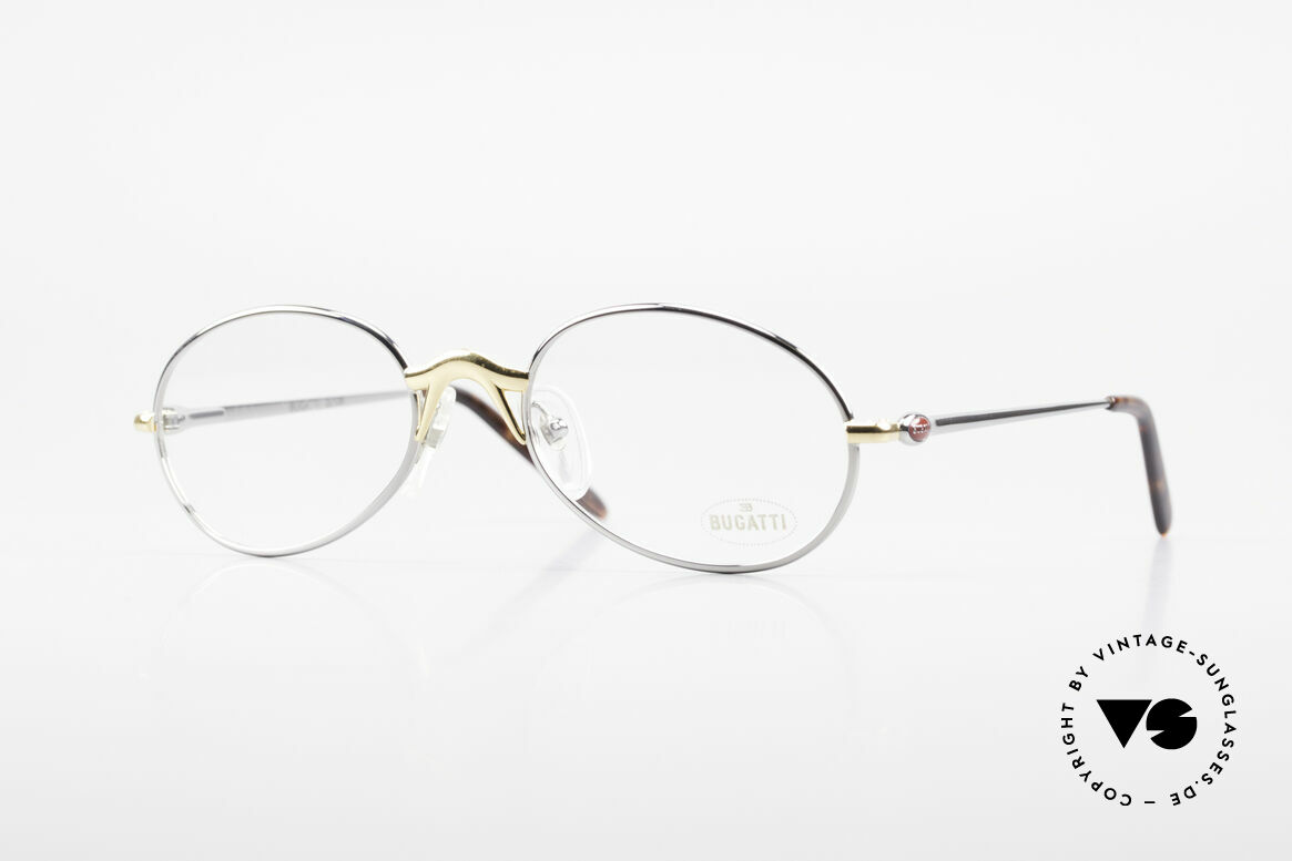 Bugatti 22126 Rare Oval 90's Vintage Glasses, elegant vintage designer eyeglass-frame by BUGATTI, Made for Men and Women