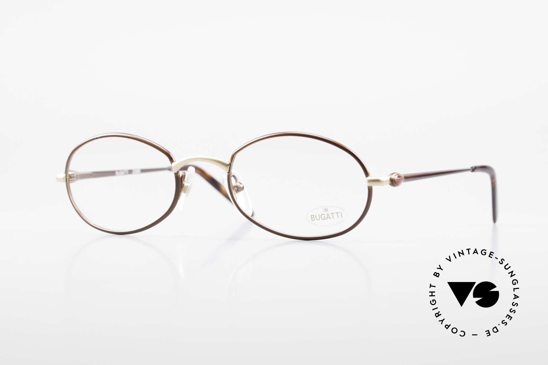Bugatti 22369 Rare Oval 90's Vintage Frame, elegant vintage designer eyeglass-frame by BUGATTI, Made for Men and Women