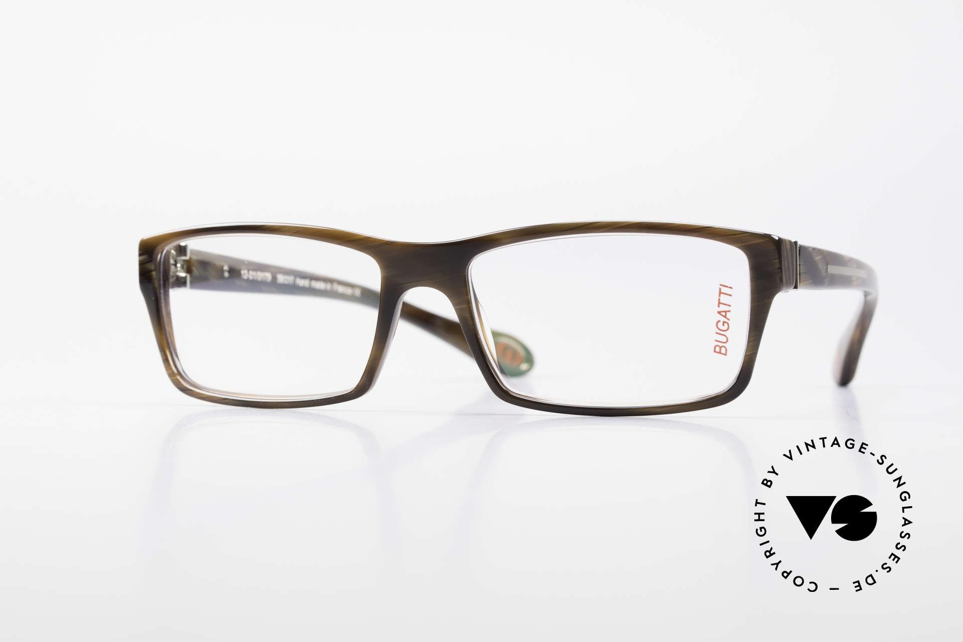 Bugatti 487 Striking Designer Glasses Men, striking high-tech eyeglass-frame by BUGATTI, Made for Men