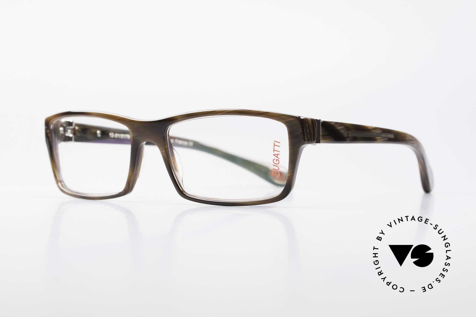Bugatti 487 Striking Designer Glasses Men, 1. class wearing comfort due to spring hinges, Made for Men