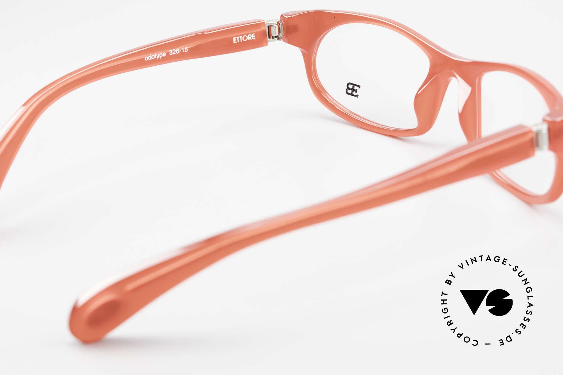 Bugatti 326 Odotype Rare Designer Eyeglass-Frame, bright red frame with original case and box, Made for Men and Women