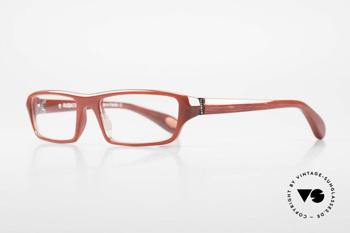 Bugatti 470 Dark Red Designer Eyeglasses, 1. class wearing comfort due to spring hinges, Made for Men