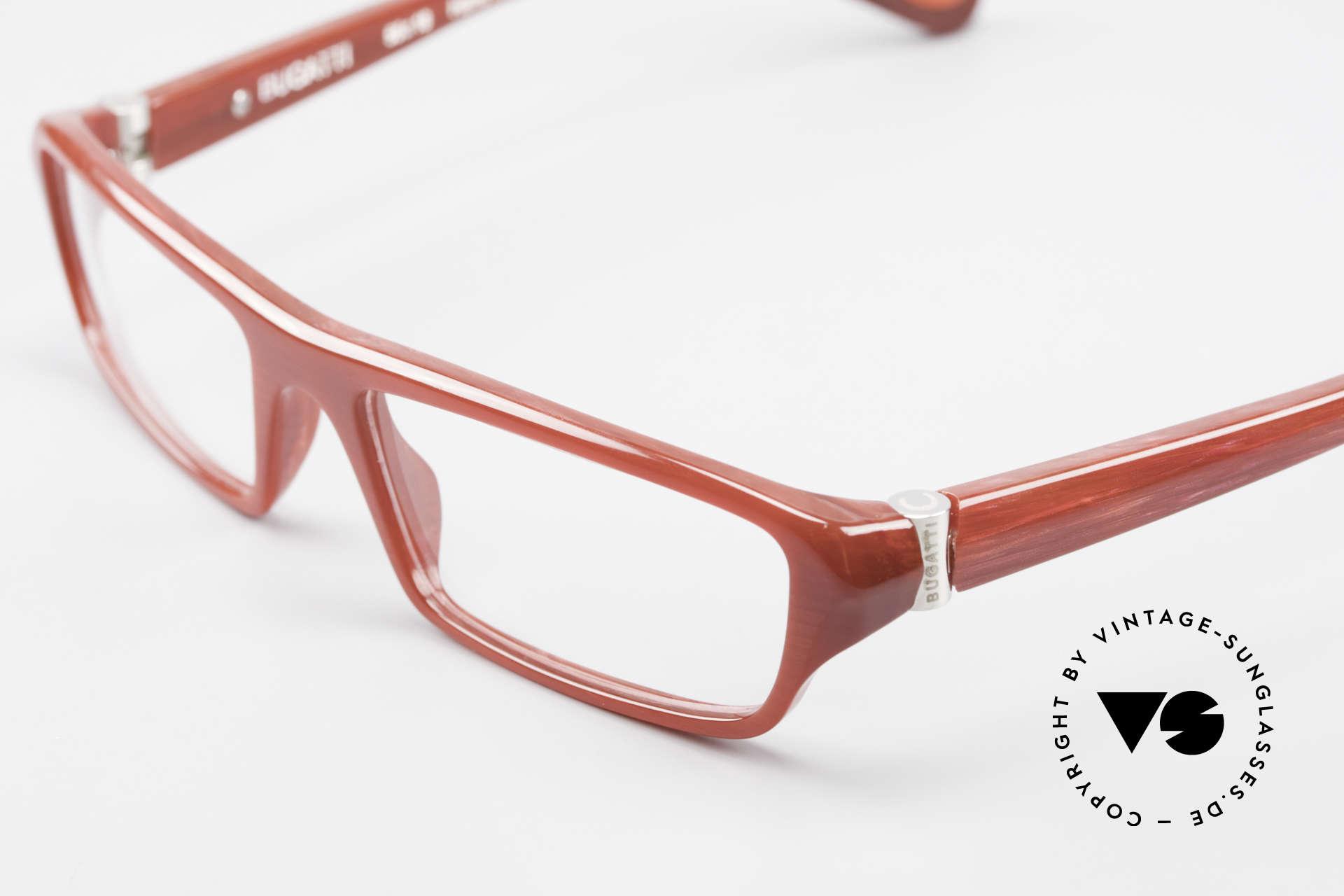 Bugatti 470 Dark Red Designer Eyeglasses, true rarity (limited-lot production by Bugatti), Made for Men