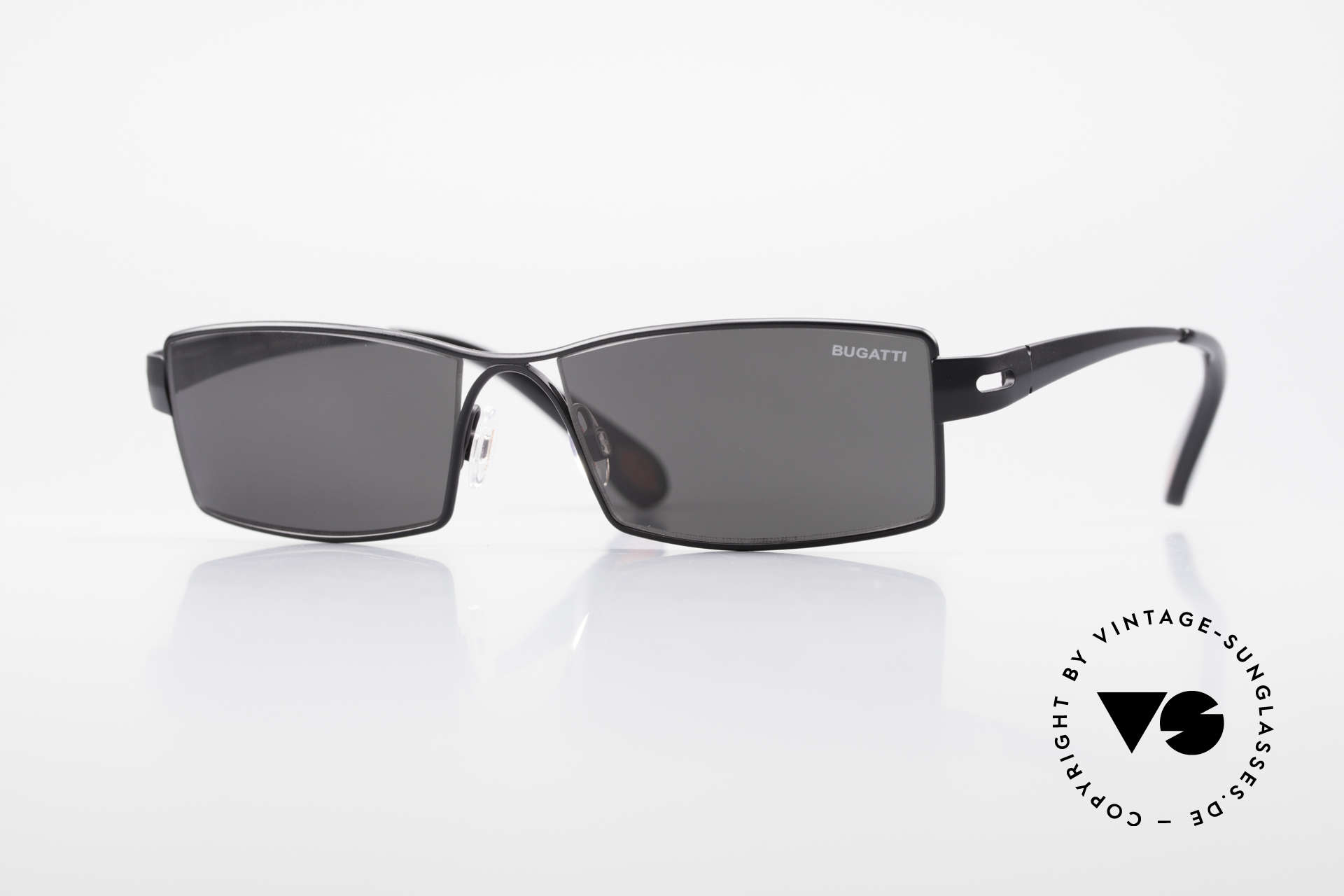 Bugatti 499 Rare Designer Sunglasses XL, striking HIGH-TECH sunglasses by BUGATTI, Made for Men