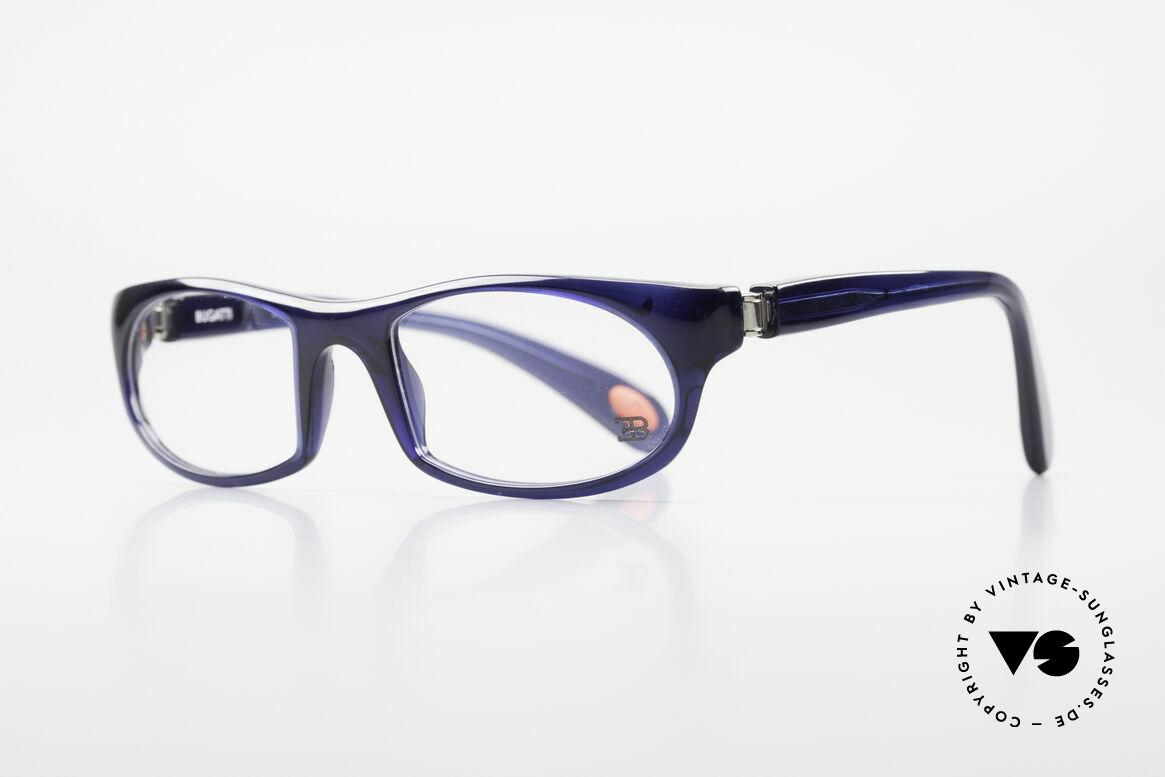 Bugatti 326 Odotype Sporty Designer Eyeglasses, ergonomic frame with 180°-spring hinges!, Made for Men