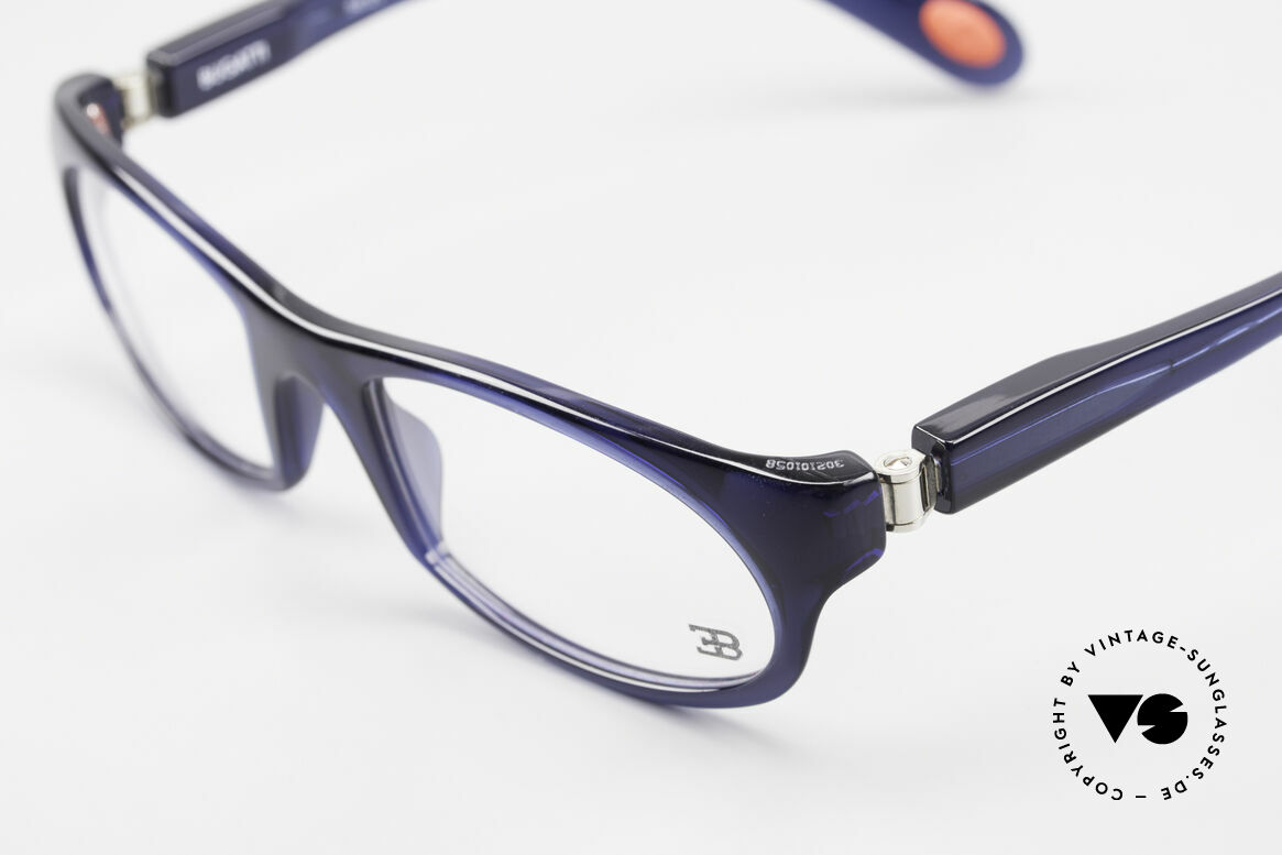 Bugatti 326 Odotype Sporty Designer Eyeglasses, very special lens construction; TOP comfort, Made for Men