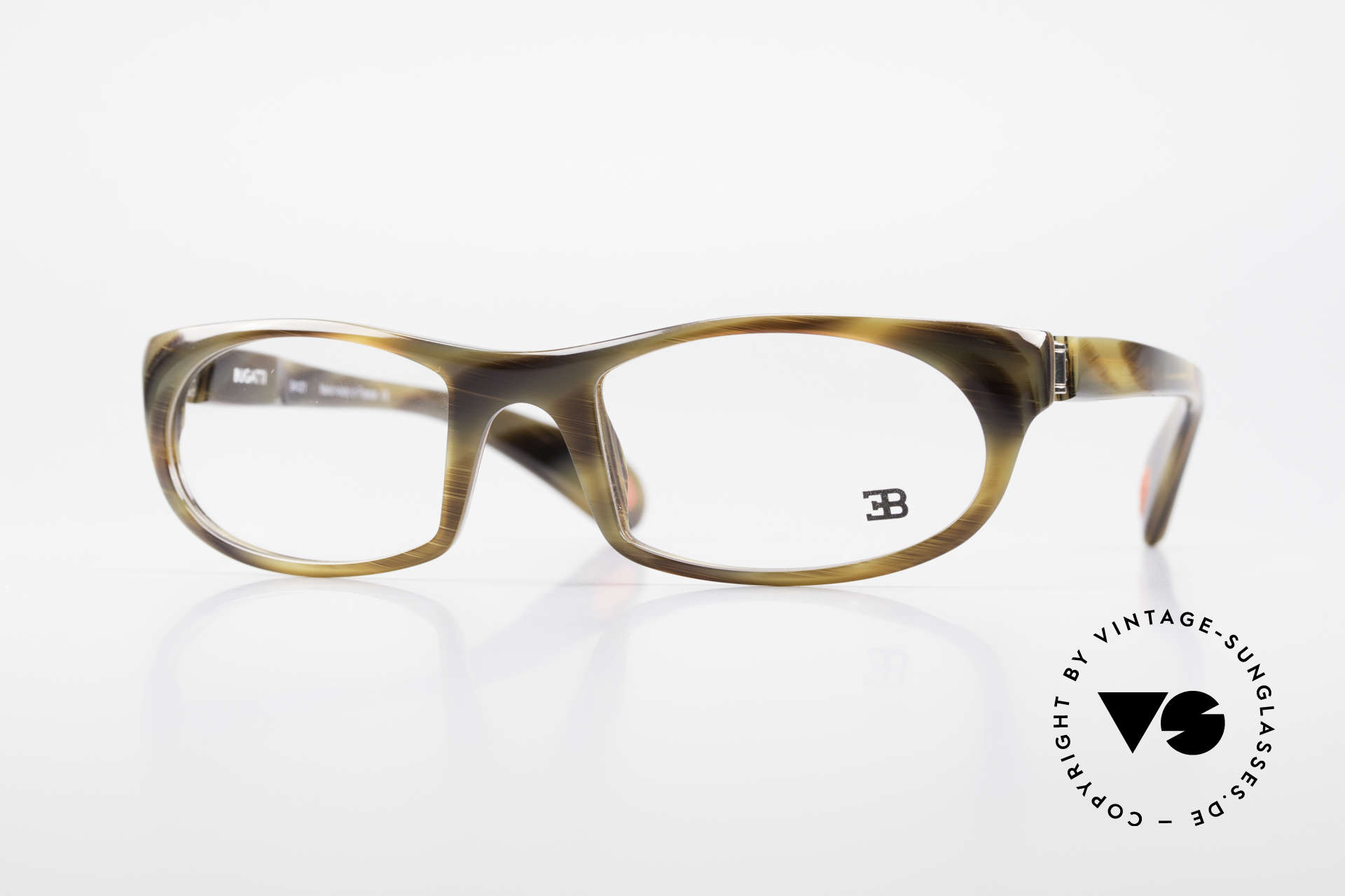 Bugatti 326 Odotype True Vintage Eyeglass-Frame, sporty BUGATTI high-tech eyeglass-frame, Made for Men