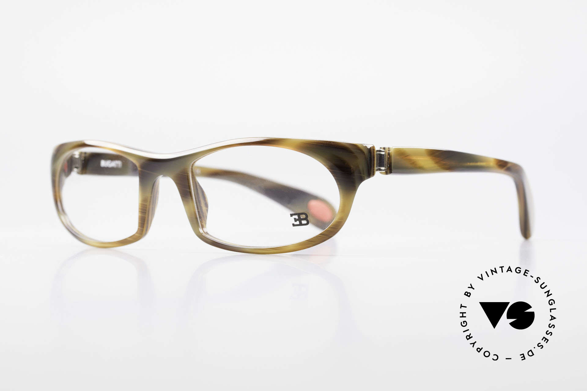 Bugatti 326 Odotype True Vintage Eyeglass-Frame, ergonomic frame with 180°-spring hinges!, Made for Men