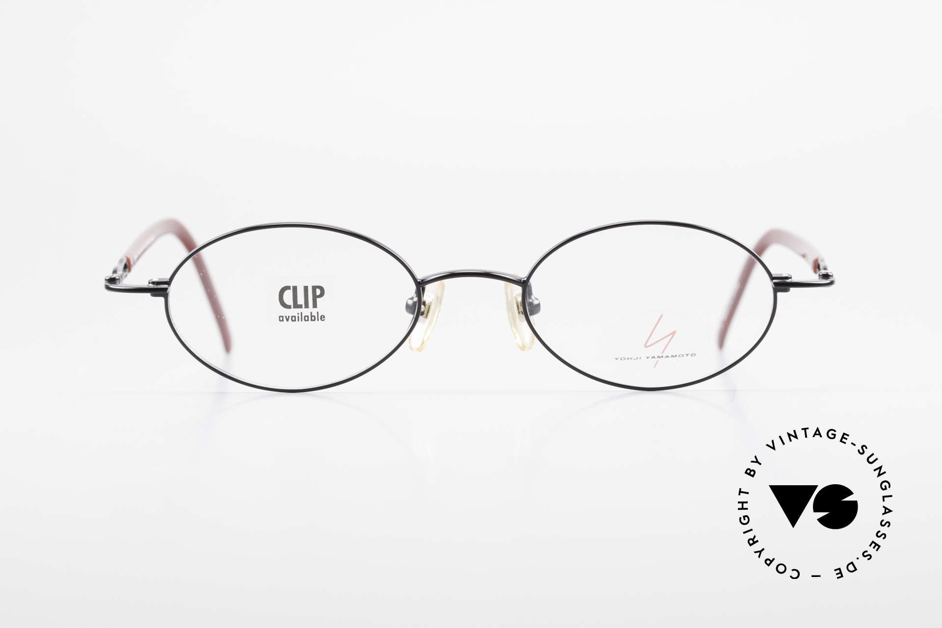 Yohji Yamamoto 51-8201 Oval Vintage Glasses Clip On, Size: medium, Made for Men and Women