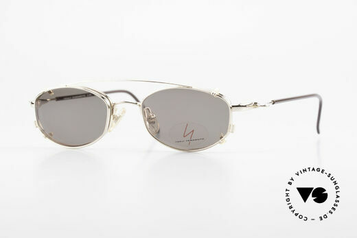 Yohji Yamamoto 51-7211 Gold Plated Frame With Clip On Details