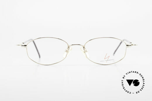 Yohji Yamamoto 51-7211 Gold Plated Frame With Clip On, Size: small, Made for Men and Women