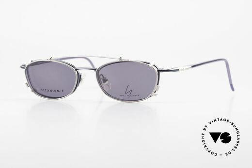 Yohji Yamamoto 51-0013 Clip On Titanium Frame Blue Details