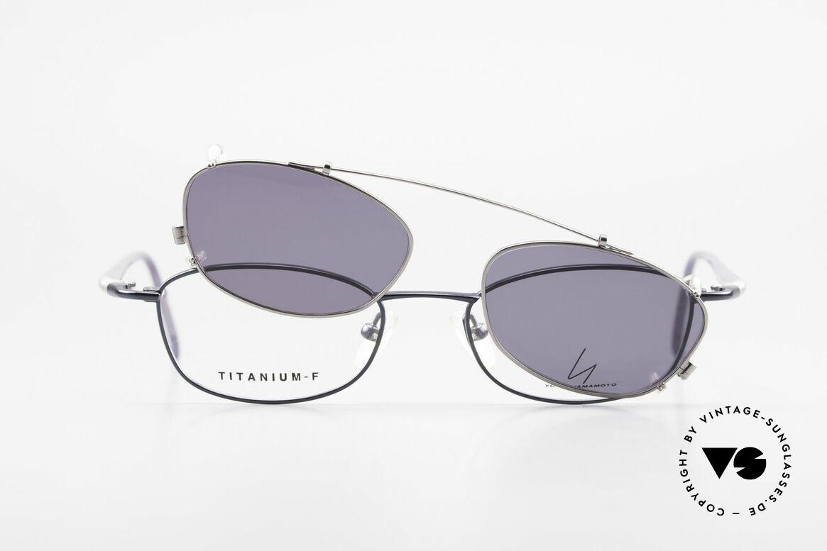 Yohji Yamamoto 51-0013 Clip On Titanium Frame Blue