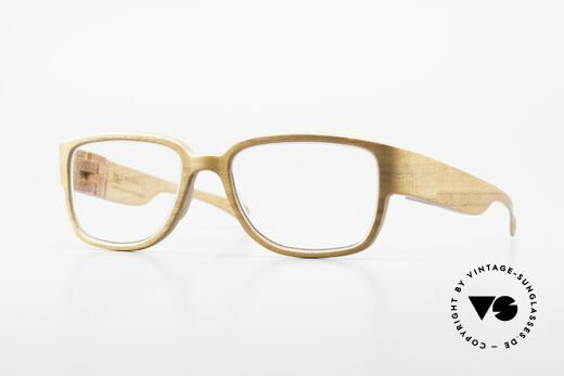 Rolf Spectacles Hornet 52 Pure Wood Eyeglasses Large Details