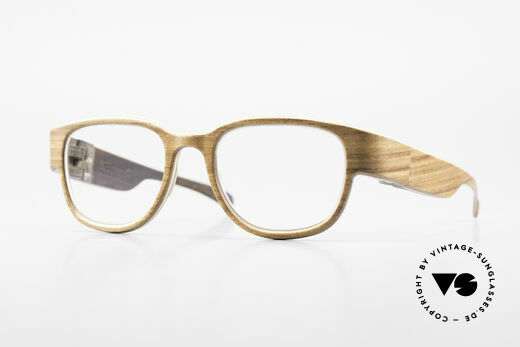 Rolf Spectacles Berlina 53 Pure Wood Frame Unisex Large Details