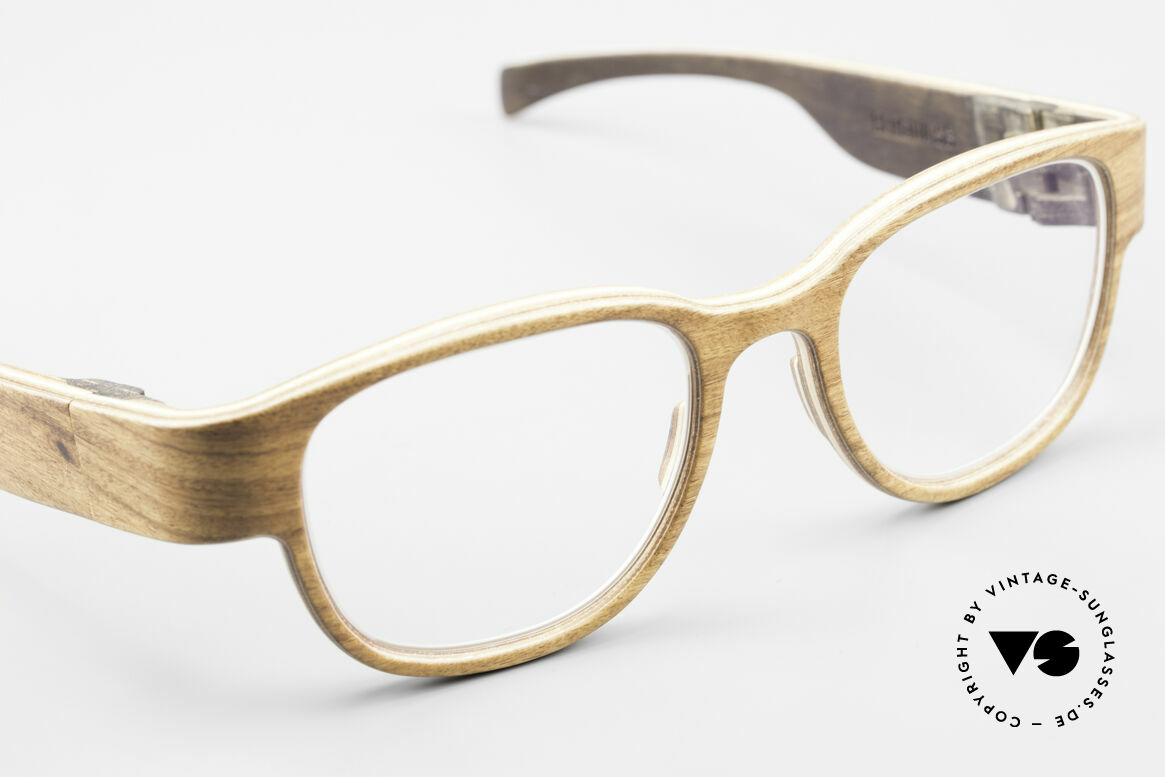 Rolf Spectacles Berlina 53 Pure Wood Frame Unisex Large