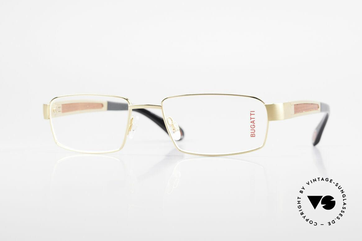 Bugatti 522 Padouk Precious Wood Gold, BUGATTI luxury eyeglasses of incredible top-quality, Made for Men
