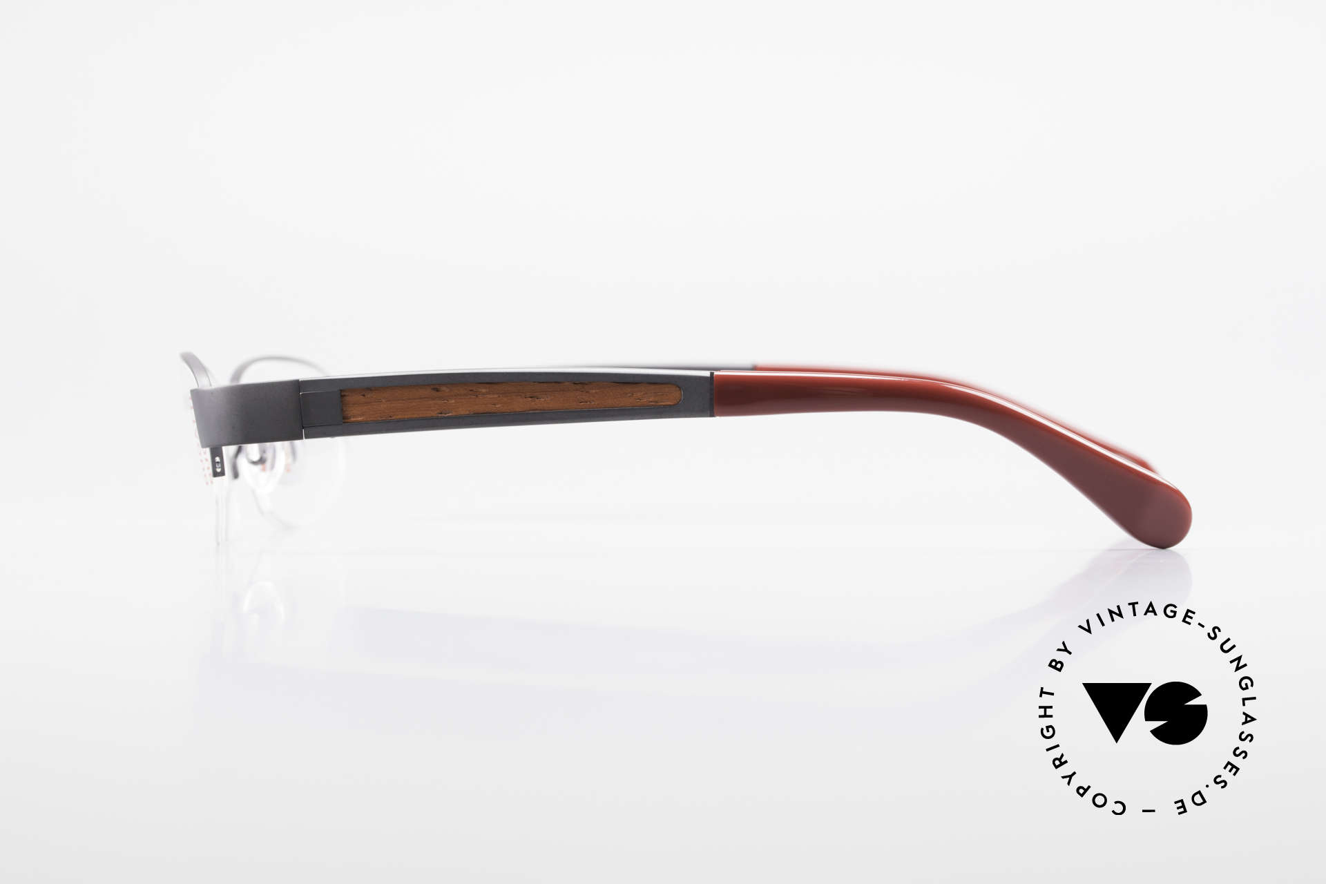 Bugatti 520 Padouk Wood Titanium Frame, flexible spring hinges for a 1st class wearing comfort, Made for Men