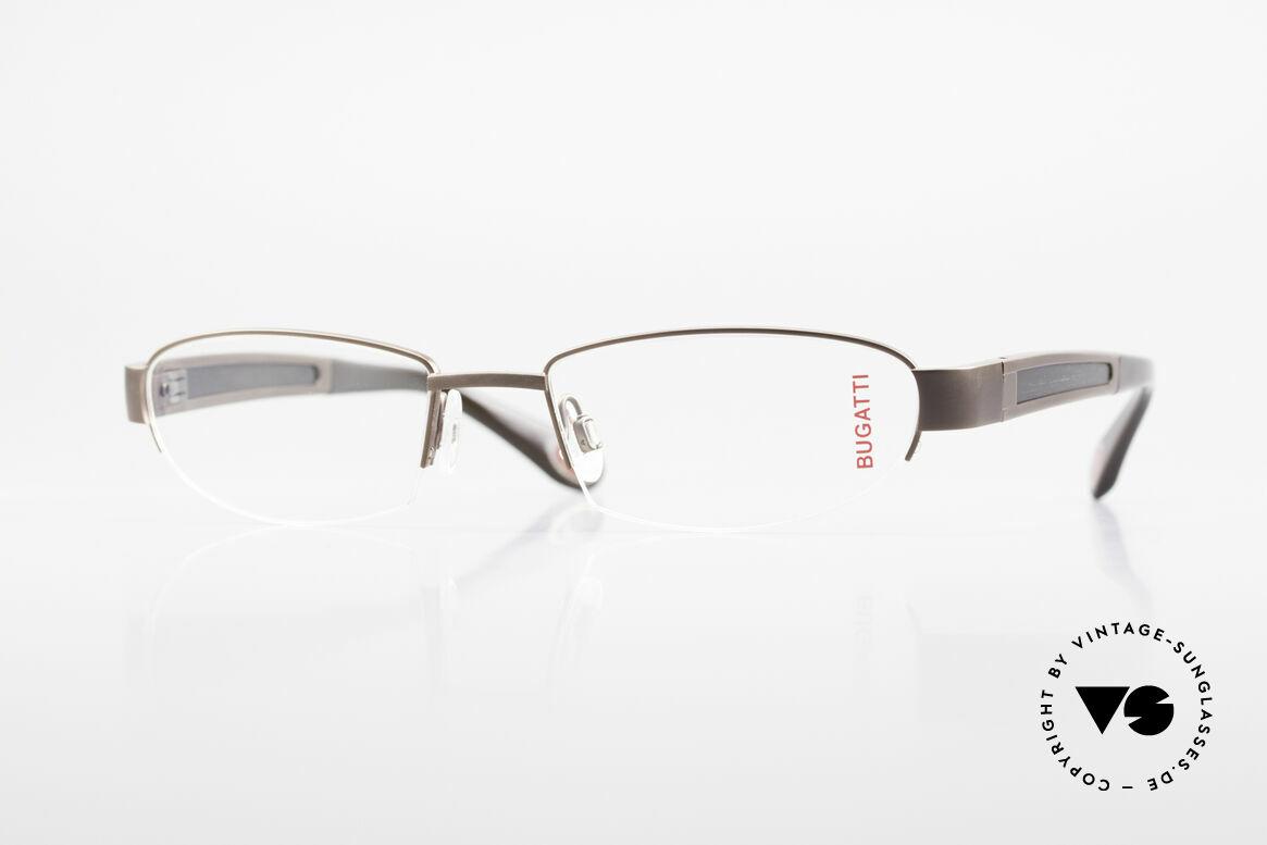 Bugatti 520 Ebony Wood Titanium Frame, BUGATTI luxury eyeglasses of incredible top-quality, Made for Men