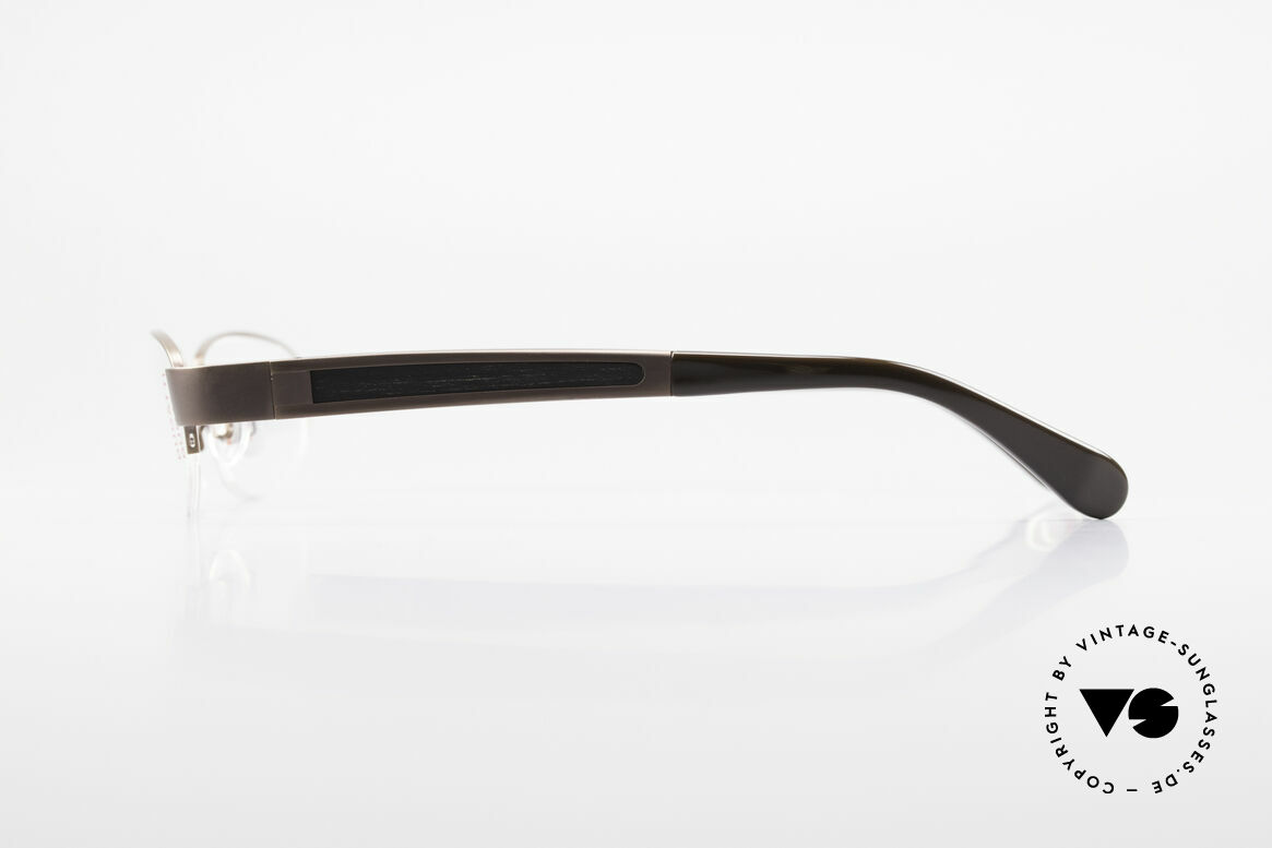 Bugatti 520 Ebony Wood Titanium Frame, flexible spring hinges for a 1st class wearing comfort, Made for Men