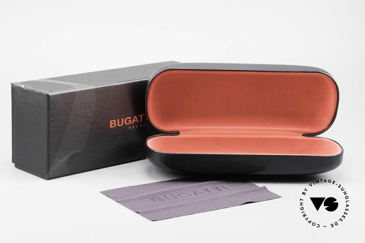Bugatti 520 Ebony Wood Glasses Ruthenium