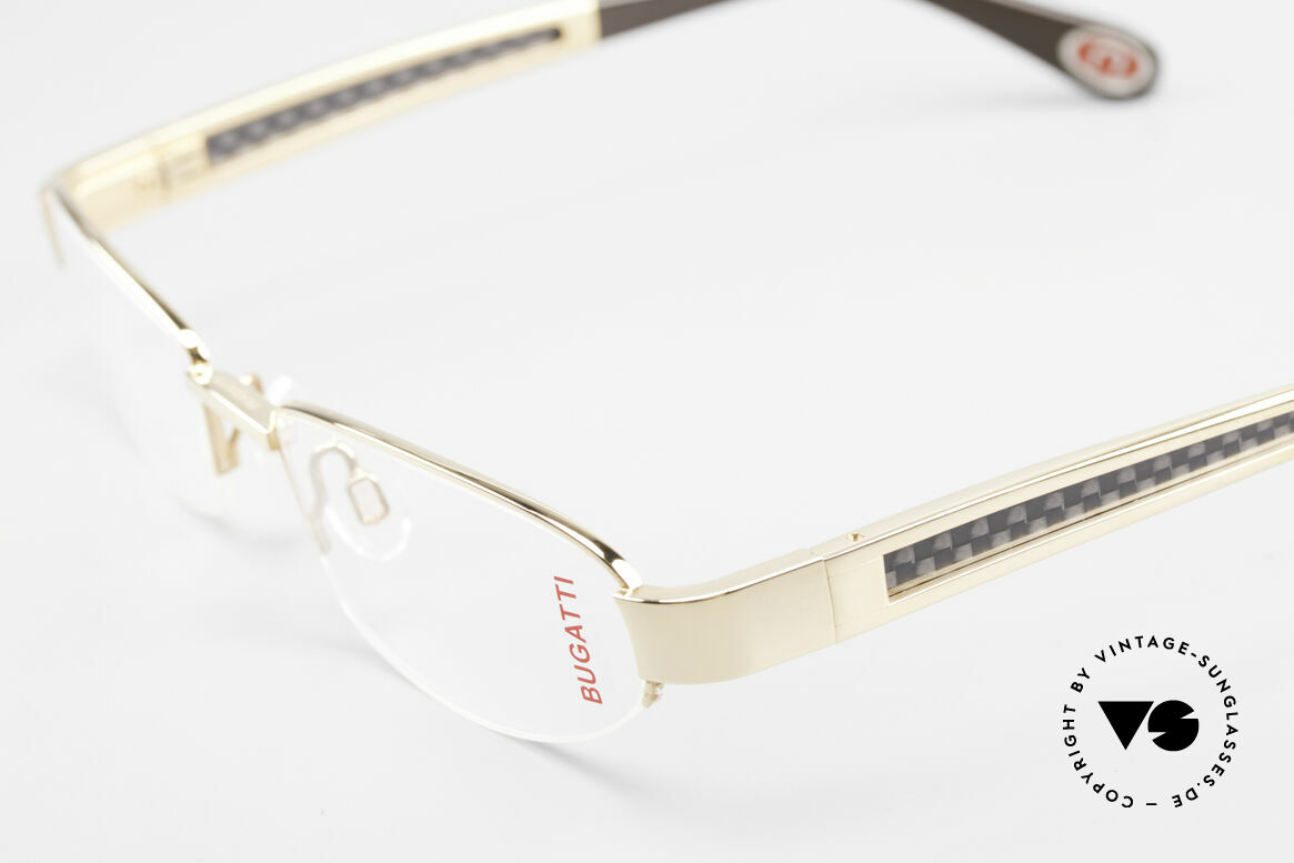Bugatti 523 Carbon Titanium Gold Frame, this model is definitely at the top of the eyewear sector, Made for Men