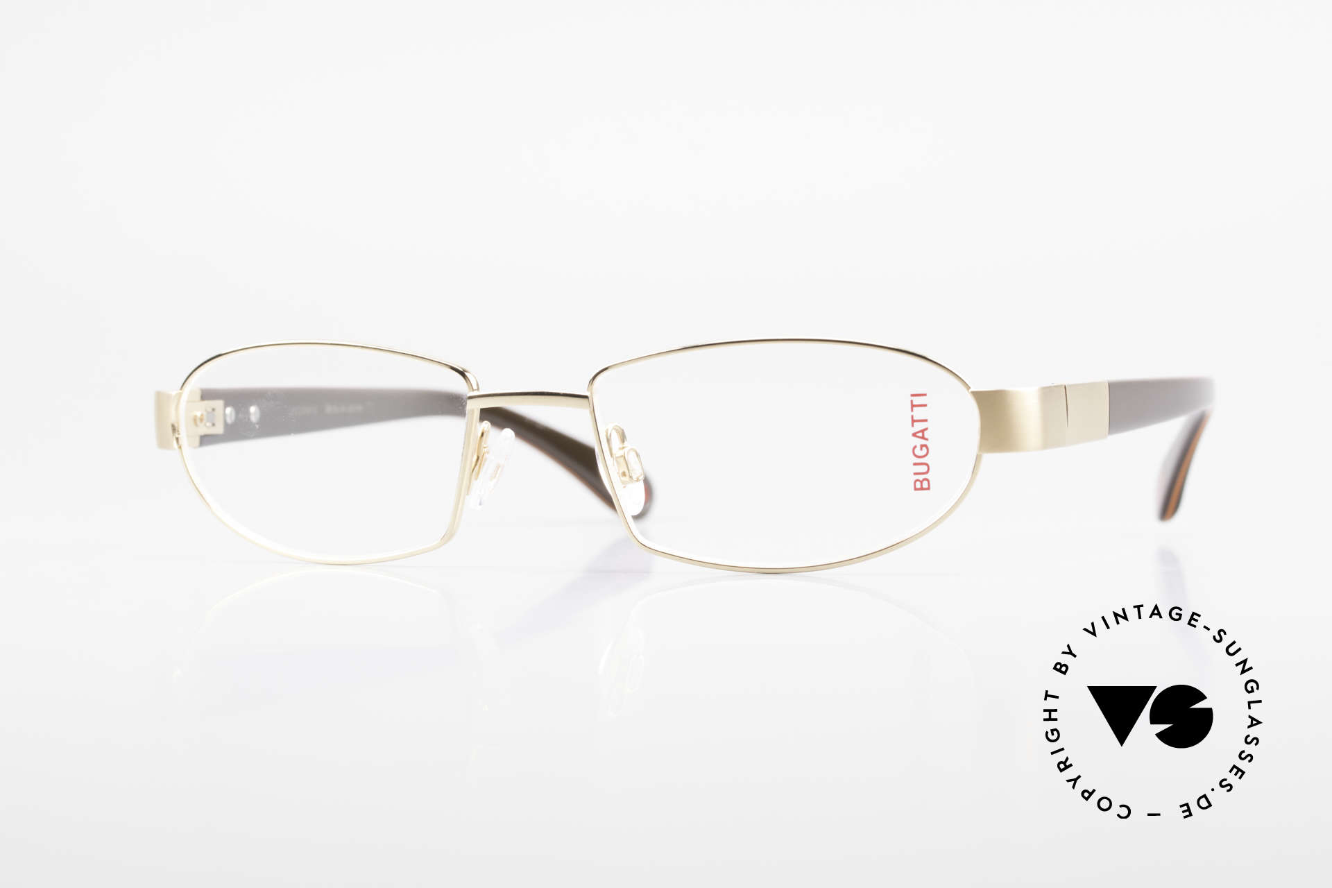 Bugatti 527 Titanium Frame Gold-Plated, BUGATTI luxury eyeglasses of incredible top-quality, Made for Men
