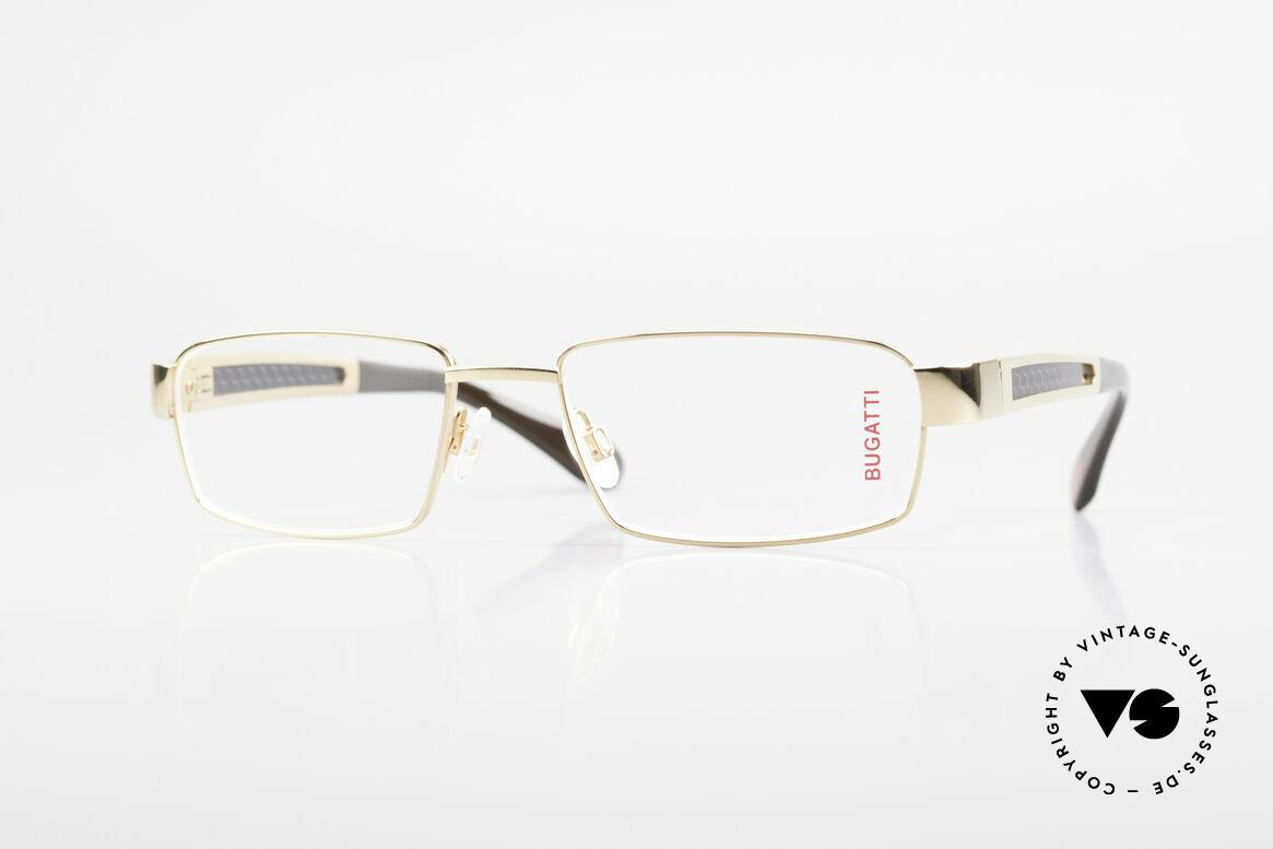Bugatti 525 Titanium Frame Carbon Gold, BUGATTI luxury eyeglasses of incredible top-quality, Made for Men