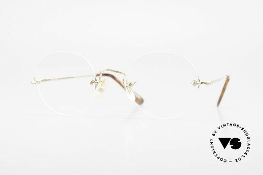 Savile Row Rimless 47/20 Rimless 14k Gold Filled Frame Details