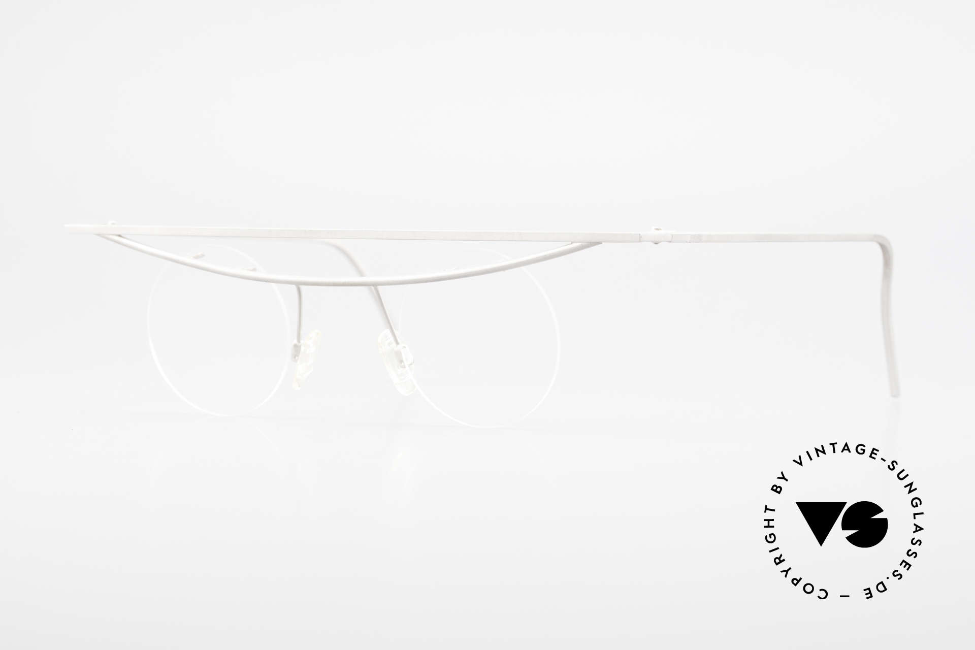 B. Angeletti Cesna Vintage Architect's Glasses XL, precious eyeglasses by Barbara ANGELETTI from 1992, Made for Men and Women
