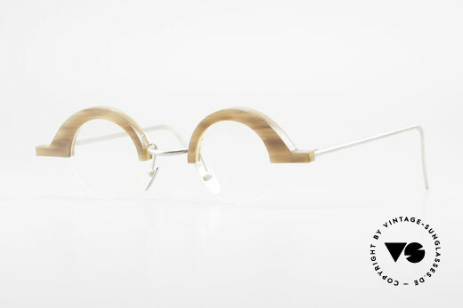 B. Angeletti Baal Redesign Genuine Horn Glasses 1994 Details