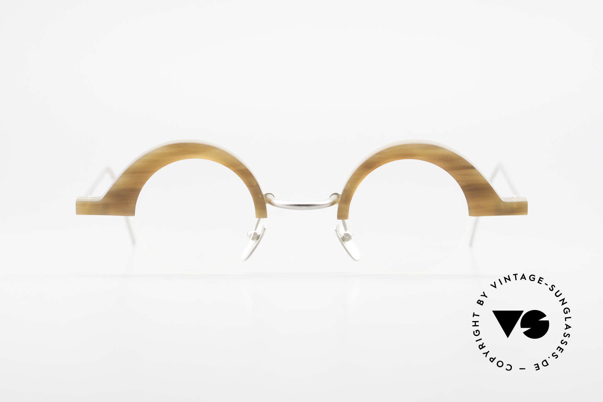 B. Angeletti Baal Redesign Genuine Horn Glasses 1994, rare designer glasses (made of GENUINE buffalo horn), Made for Men and Women