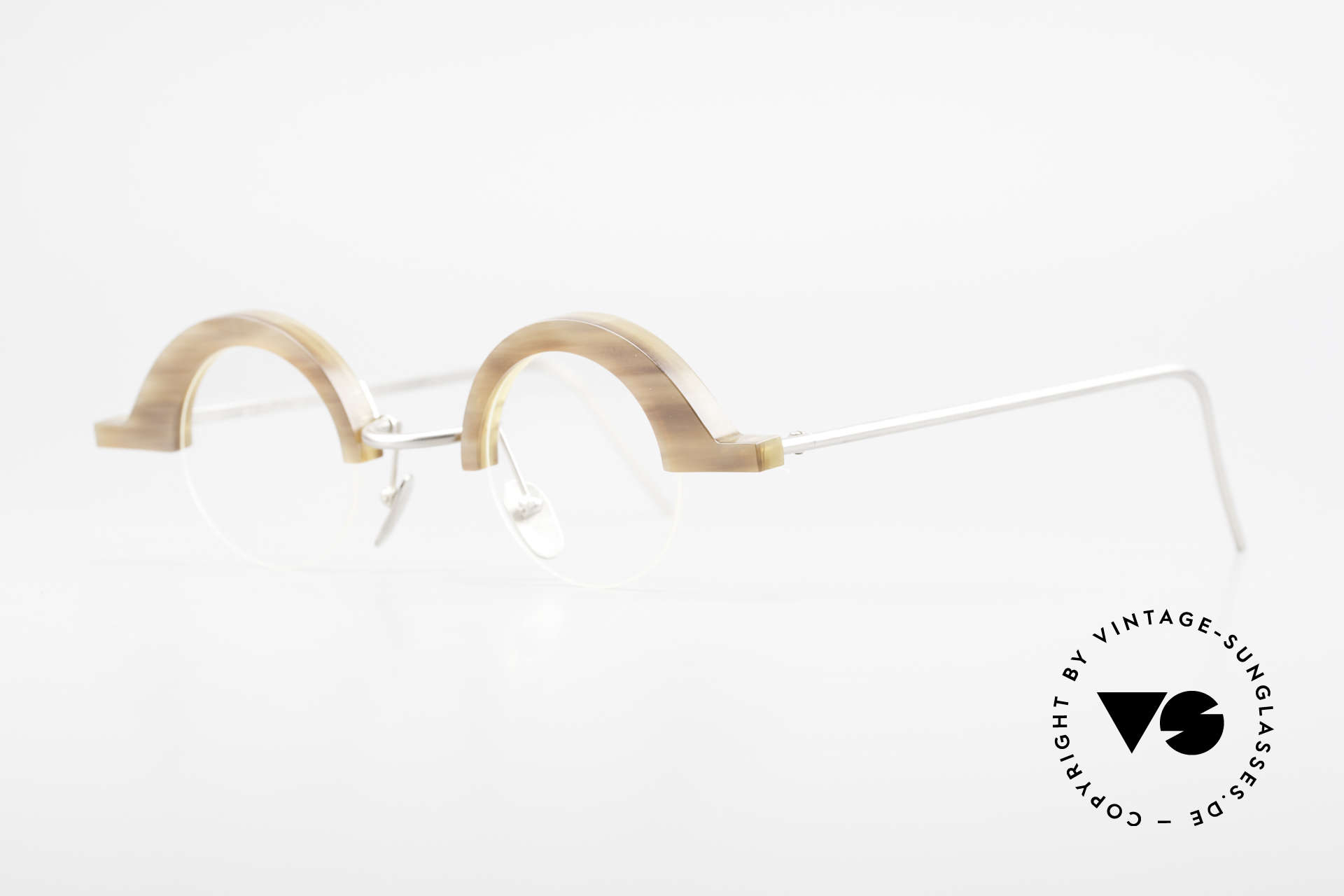 B. Angeletti Baal Redesign Genuine Horn Glasses 1994, true rarity (pure natural material - handmade), vertu!, Made for Men and Women