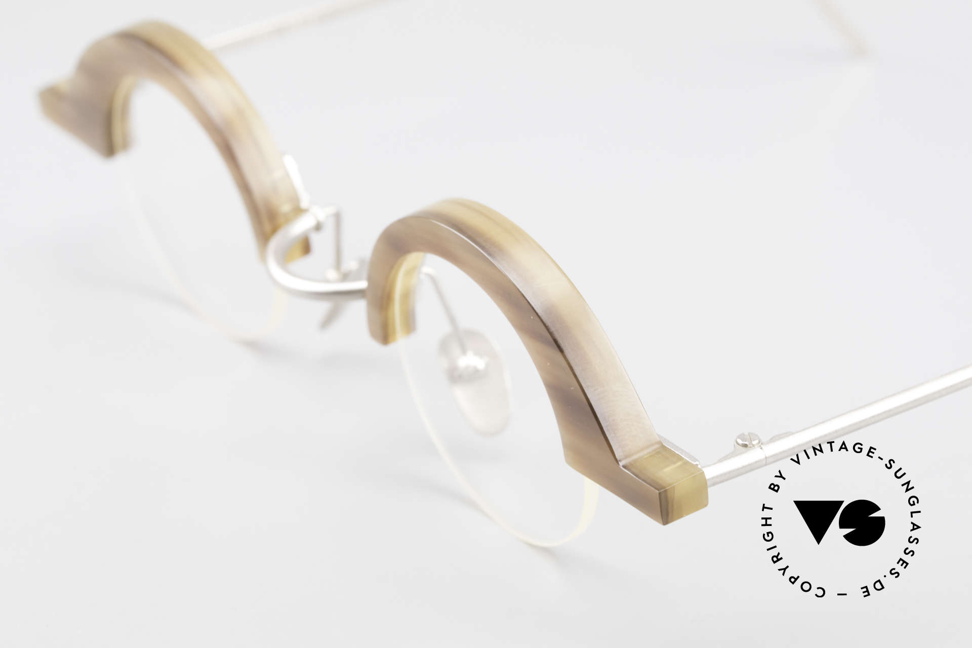 B. Angeletti Baal Redesign Genuine Horn Glasses 1994, every model (made of horn) looks individual / unique, Made for Men and Women