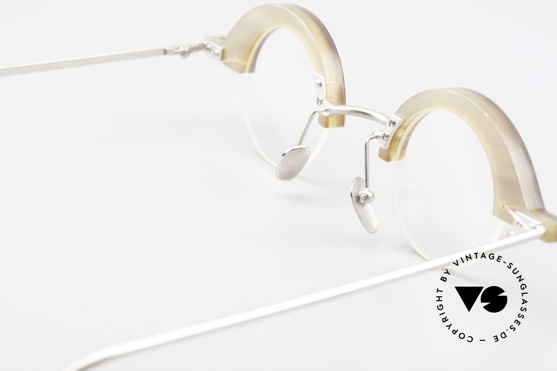 B. Angeletti Baal Redesign Genuine Horn Glasses 1994, never been worn; made for optical lenses or sun lenses, Made for Men and Women