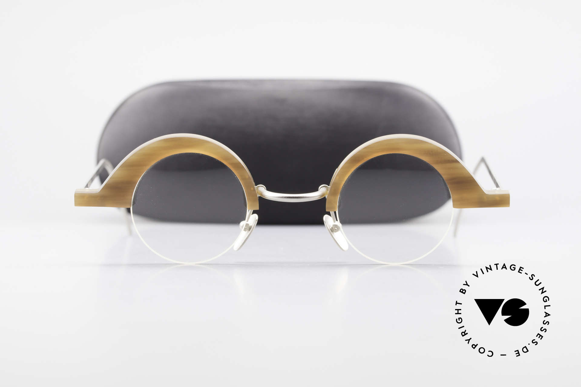 B. Angeletti Baal Redesign Genuine Horn Glasses 1994, Size: medium, Made for Men and Women