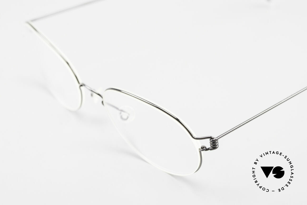 Lindberg Galar Air Titan Rim Oval Titanium Glasses Unisex, extremely strong, resilient and flexible (and 3g only!), Made for Men and Women