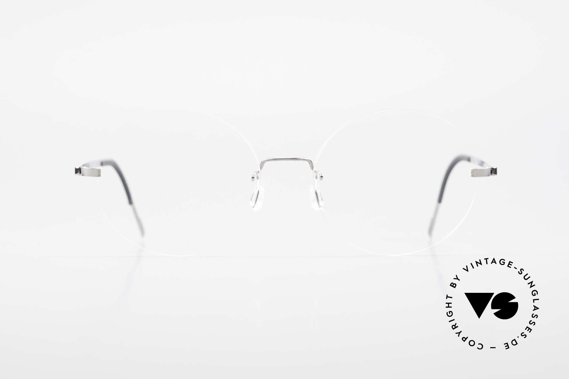 Lindberg 2333 Spirit Titan Round Rimless Titanium Frame, distinctive quality and design (award-winning frame), Made for Men and Women