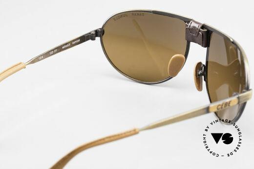 Cebe Dakar Jungle QD01 High-Tech Racing Sunglasses, 30 years old original, unworn; case leather peels a bit off, Made for Men and Women