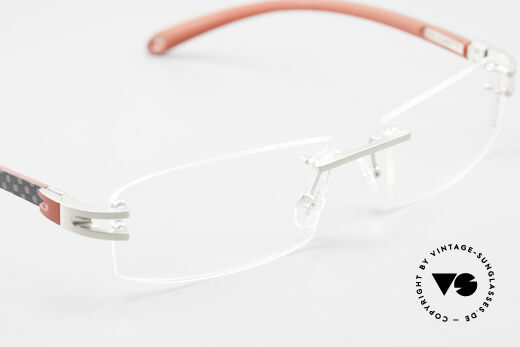 Bugatti 464 Rimless Luxury Frame Palladium, NO RETRO EYEWEAR, but a costly rarity, size 56/16, Made for Men