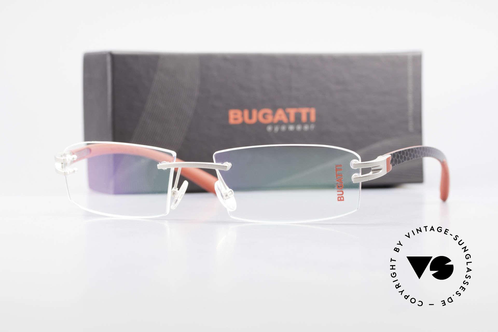 Bugatti 464 Rimless Luxury Frame Palladium, Size: medium, Made for Men