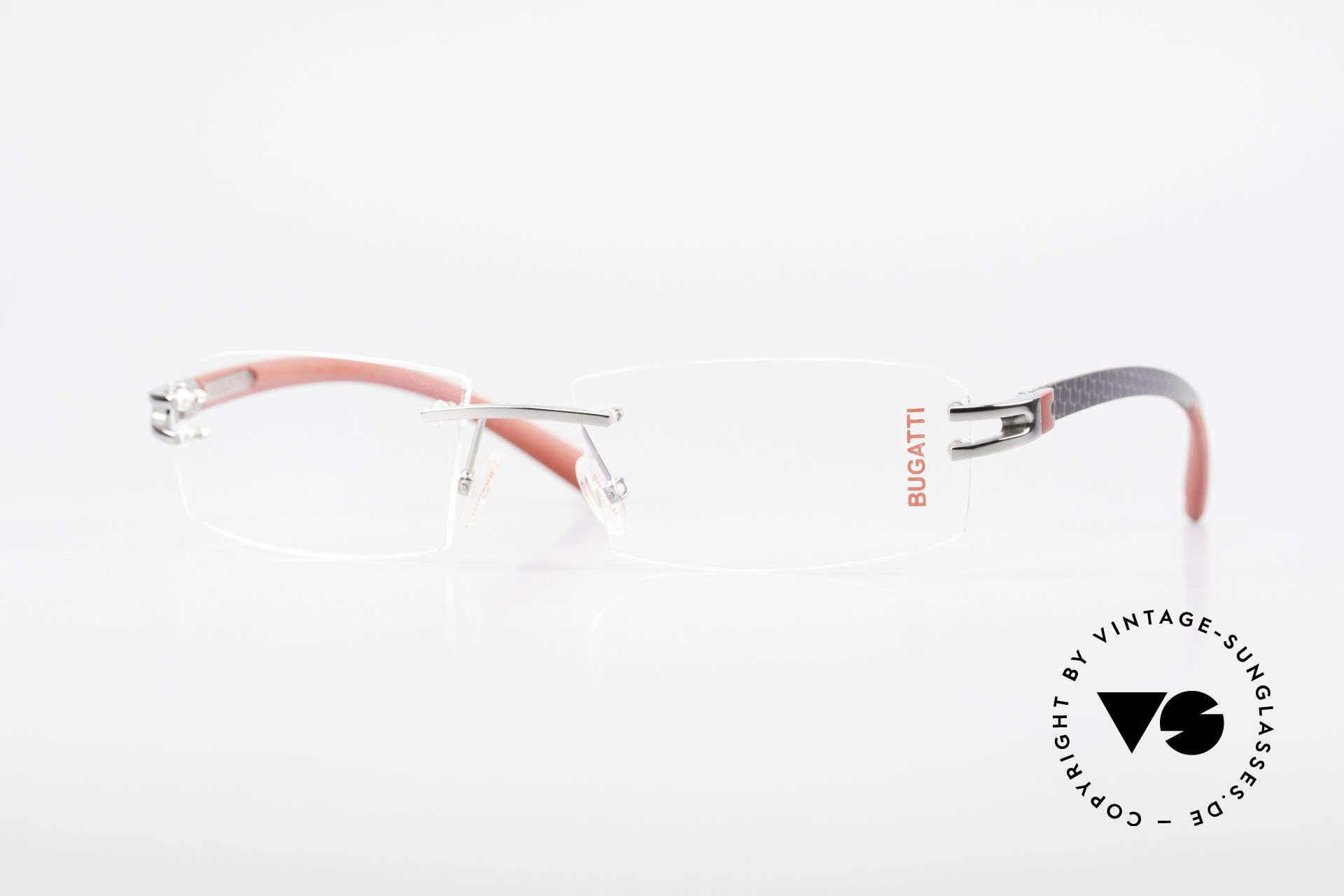 Bugatti 464 Rimless Eyeglasses Ruthenium, original, vintage rimless eyeglass-frame by Bugatti, Made for Men